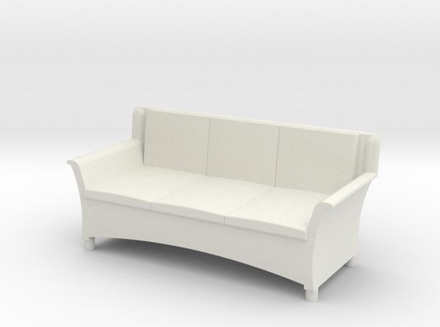1:48 Wicker Couch in White Natural Versatile Plastic
