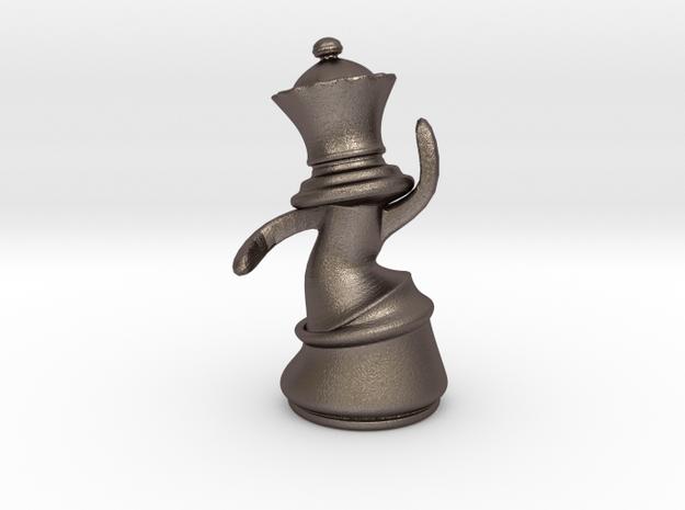 Dansing Queen in Polished Bronzed Silver Steel