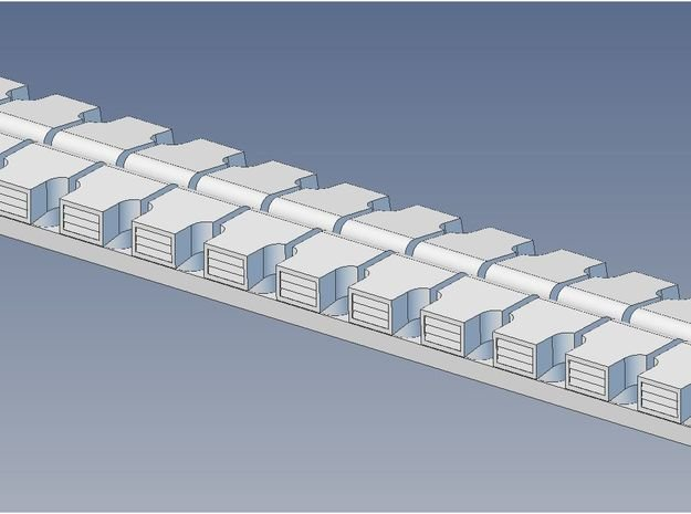 Garland Vent Arch Roof S in Smooth Fine Detail Plastic