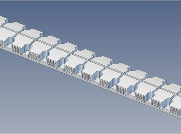 Garland Vent Clerestory Roof S in Smooth Fine Detail Plastic