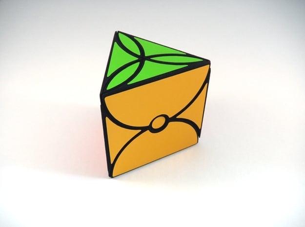 Tridot Puzzle in White Natural Versatile Plastic