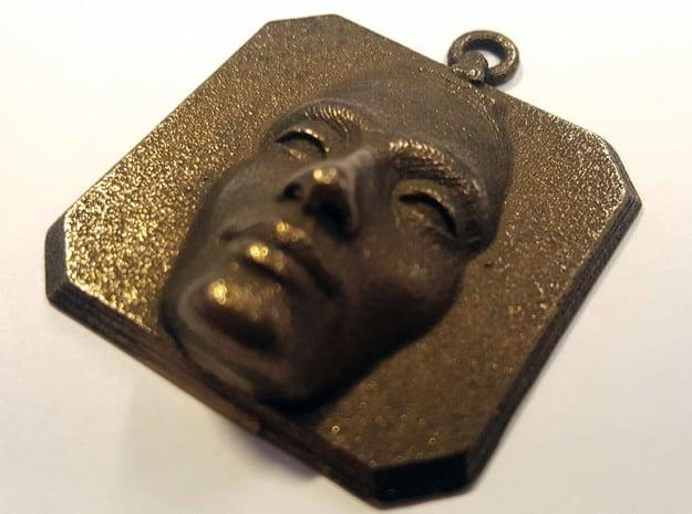 Nefertiti Amulet in Polished Bronze Steel