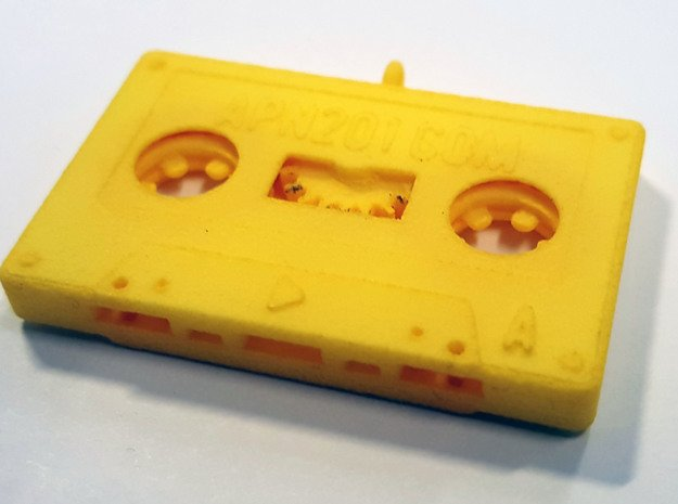 The Cassette in Yellow Processed Versatile Plastic