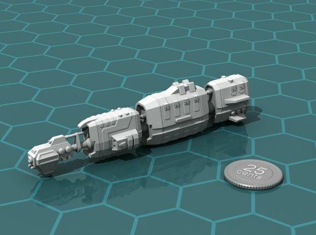 USASF Crockett class Battleship in White Natural Versatile Plastic