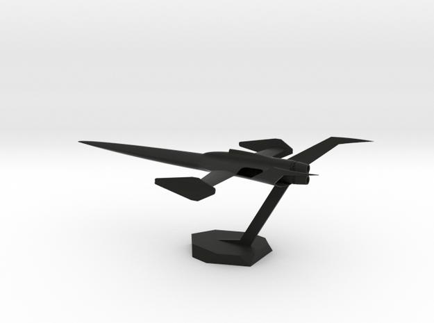 K80 Spaceplane in Black Natural Versatile Plastic