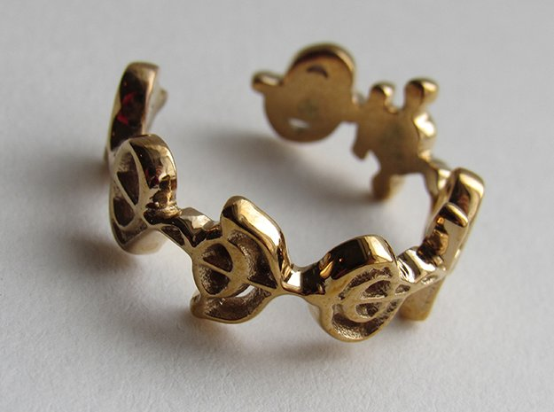 """Logical"" Vulcan Script Ring - Cut Style in Polished Bronze: 7 / 54"