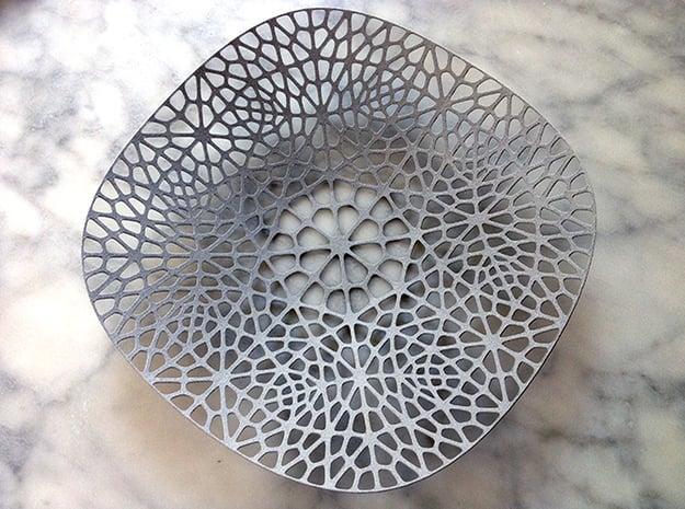 Lace Plate in White Natural Versatile Plastic