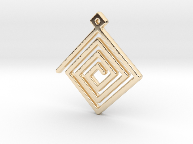 Spiral Pendant in 14k Gold Plated Brass