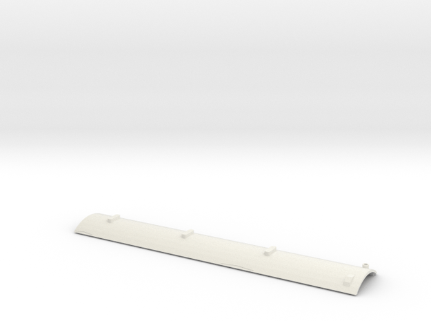 CNR D-1 Roof S Scale in White Natural Versatile Plastic