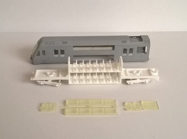 N04A - Waratah Cab Chassis - Part B in White Natural Versatile Plastic
