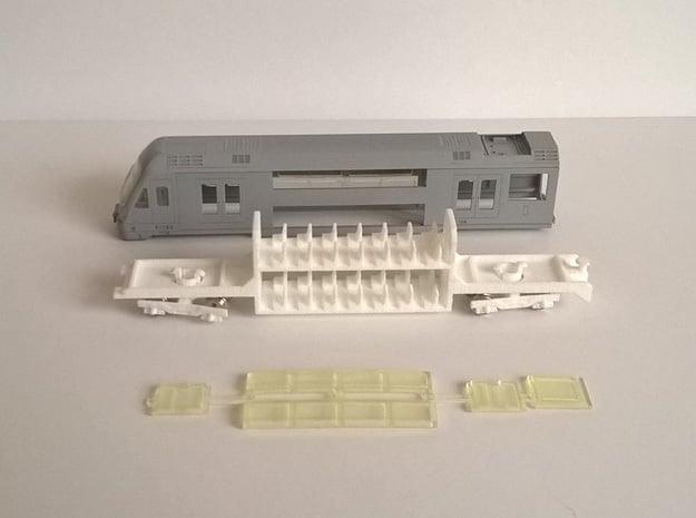 N04C - A Set Waratah - Cab glazing - Part C in Smoothest Fine Detail Plastic
