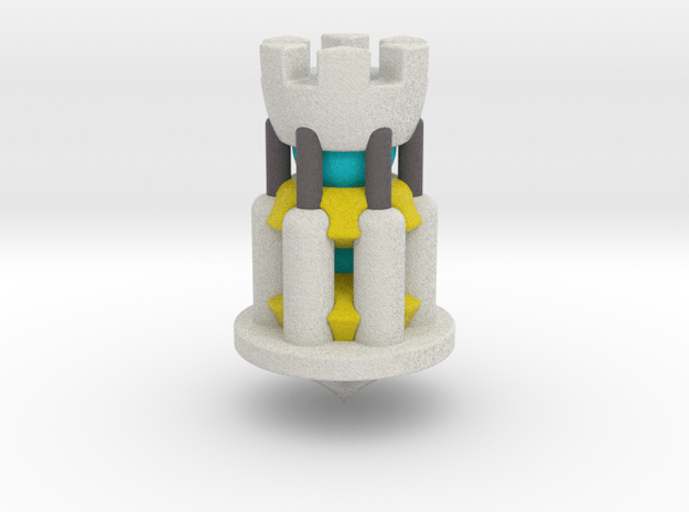 Galaxy Chess - Rook White in Full Color Sandstone