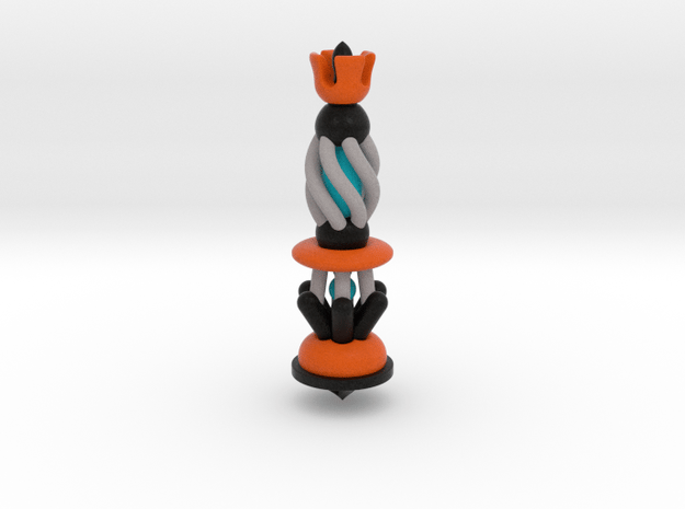 Galaxy Chess - King Black in Full Color Sandstone