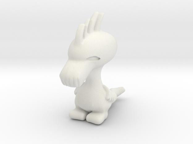 Cute Dragon in Dorbz scale in White Natural Versatile Plastic