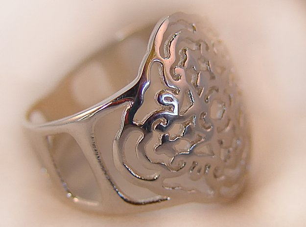 A Ring in Polished Silver