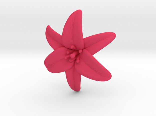 Lily Blossom (small) in Pink Processed Versatile Plastic