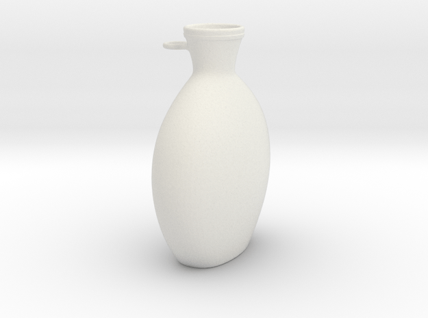 Flask in White Natural Versatile Plastic