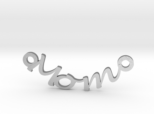Mom Charm  in Natural Silver