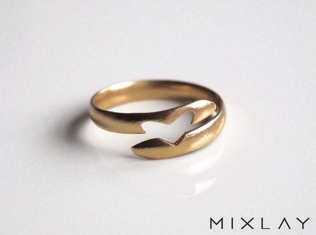 Love Between Smooth 18 in Natural Brass