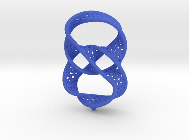 Infinity rings pendant (earrings) in Blue Processed Versatile Plastic