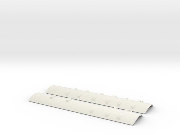 CNR - C-1/C-2 Roofs - S Scale in White Natural Versatile Plastic