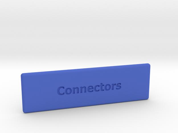 "Chameleon 64 housing ""Connectors"" (cover - part 2) in Blue Processed Versatile Plastic"