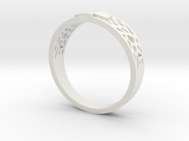 AceRing_Web_Spade_Size14 in White Natural Versatile Plastic