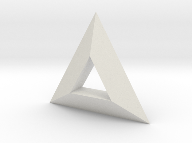 TriAngular in White Natural Versatile Plastic