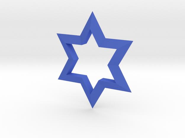 Star in Blue Processed Versatile Plastic