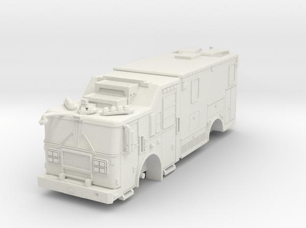 1/87 FDNY seagrave-communication-truck in White Natural Versatile Plastic