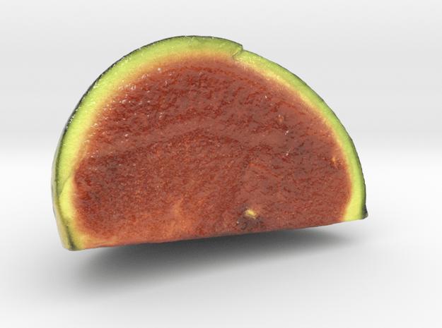 The Watermelon-2-Quarter-mini in Glossy Full Color Sandstone