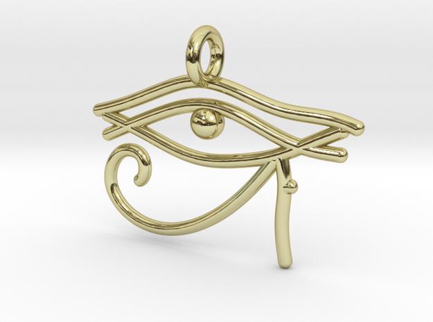 Eye of Ra in 18k Gold Plated Brass