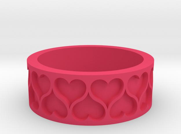 Heart Ring in Pink Processed Versatile Plastic