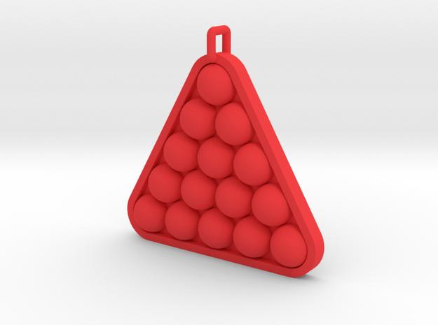 Snooker / Pool Ball Pendant in Red Processed Versatile Plastic