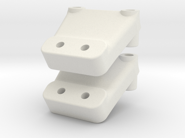 YZ2 - Nozzle Wing Mount in White Natural Versatile Plastic