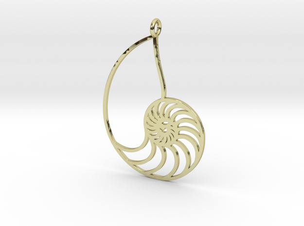 Nautilus in 18k Gold Plated Brass