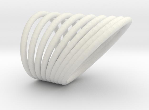 Hooped Finger Ring in White Natural Versatile Plastic