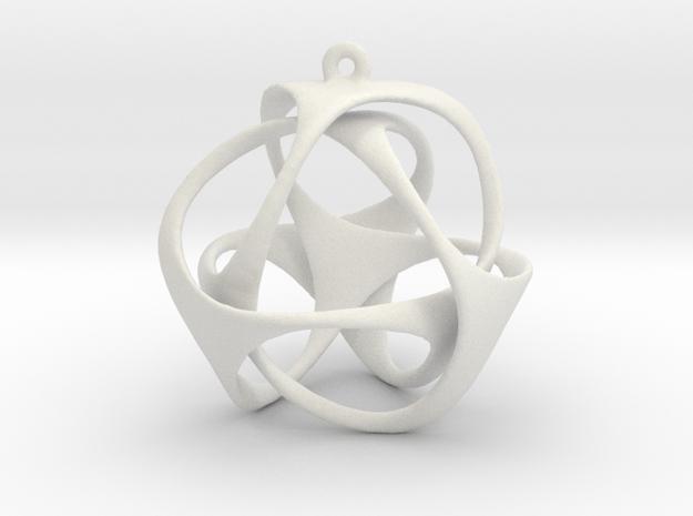 Triloop Pendant in White Natural Versatile Plastic