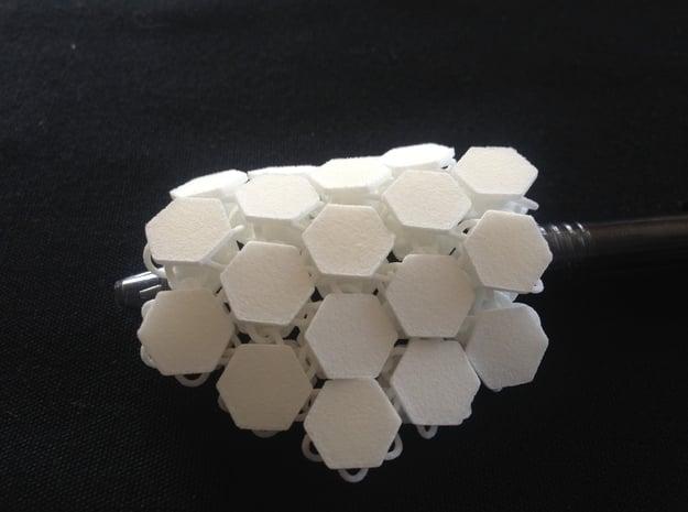 Hex_ conection_prototype.  in White Natural Versatile Plastic