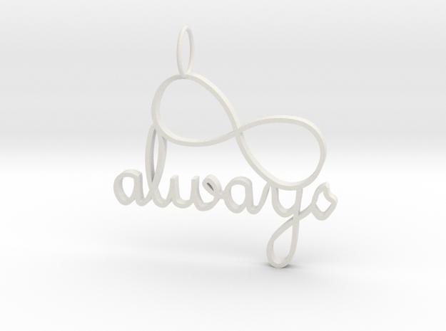 Always Infinity in White Natural Versatile Plastic