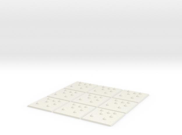 Minefield 9 pack in White Natural Versatile Plastic