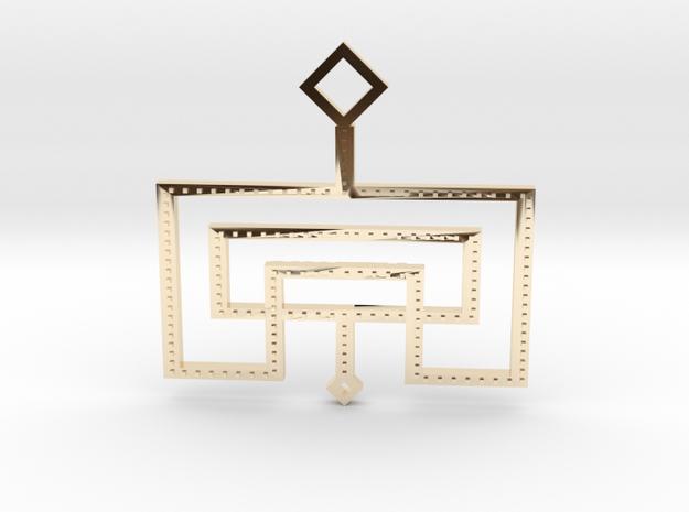 Loft Male- Pendant in 14k Gold Plated Brass
