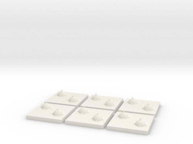 Orbital Mine 6 pack in White Natural Versatile Plastic