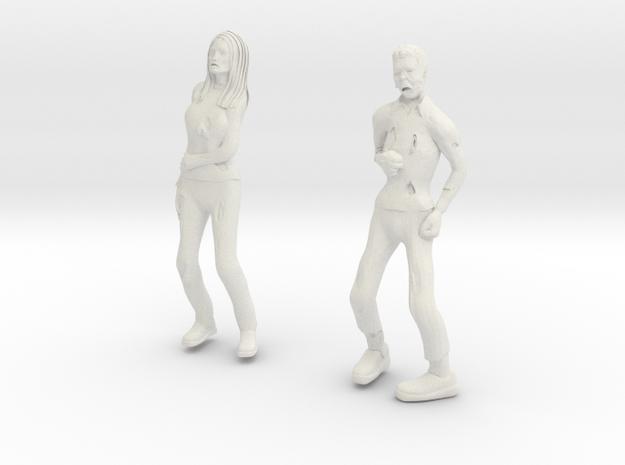 Zombie Male And Female in White Natural Versatile Plastic
