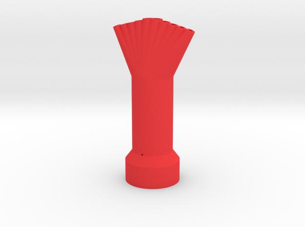 10 Mentos/Diet Soda Nozzle - 10 Spout, 5 Mentos in Red Processed Versatile Plastic