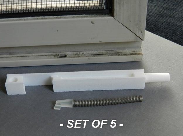Window Retainer 5 pc in White Natural Versatile Plastic