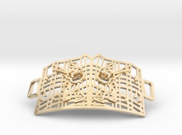 Graceland Gate Bracelet in 14k Gold Plated Brass