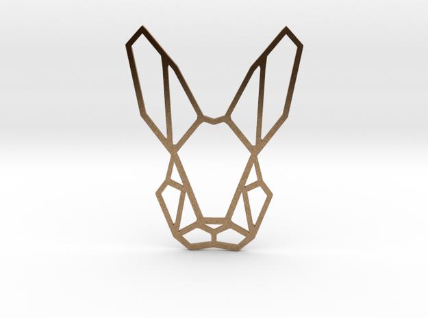Mr. Rabbit Pendant in Natural Brass