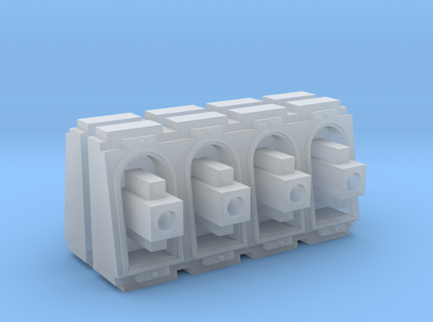 Weapon battery set in Smooth Fine Detail Plastic