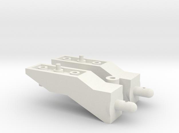 Tamiya Pajero CC01 10mm Body Lift Kit in White Natural Versatile Plastic